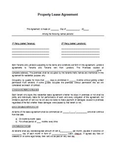 Printable sample rental lease agreement templates free form real printable sample rental lease agreement template form wajeb Images