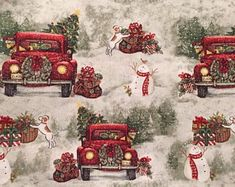 JOANN is your Christmas fabric store. Browse a variety of festive fabrics, in fleece, flannel, cotton & fabric panels, perfect for decor & craft projects. Christmas Truck, Country Christmas, Christmas Balls, Red Christmas, Vintage Christmas, Christmas Wreaths, Christmas Crafts, Christmas Ornaments, Christmas Ideas