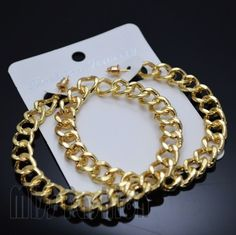 Free Shipping Hip Hop Simple Chain Gold Big Hoop Earrings For Women Jewelry -in Hoop Earrings from Jewelry on Aliexpress.com
