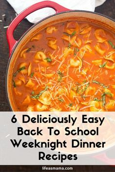 Once school is back in session, dinner had a tendency to fall to the back burner, making pizza and quick fast-food dinners a common occurrence. That's why you need this list with easy meals!