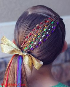 17 Trendy Kids Hairstyles You Have to Try-Out on Your Kids Crazy Hair Styles for Girls, Wacky Hair, Crazy Hair Days, Crazy Hair Day Girls, Crazy Hair For Kids, Baby Girl Hair, Toddler Girl Hair, Hair Girls, Rainbow Fashion, Winter Hairstyles