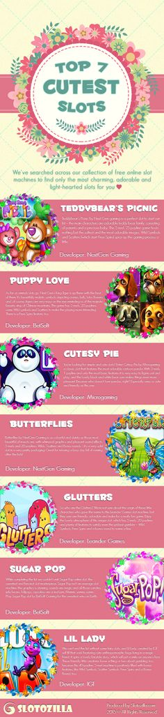 Top Free and Cutest Online Slot Machine Games to Play   Casino Infographics: