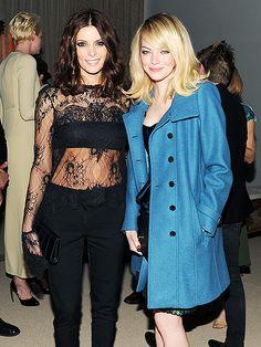 Emma and Ashley looking beautiful at the 2012 CFDA/Vogue Fashion Fund Awards
