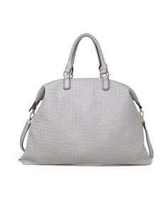 Look at this Moda Luxe Grey Poinsetta Satchel on #zulily today!