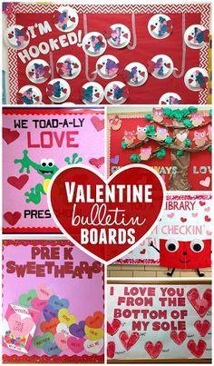 Creative Valentine's Day Bulletin Board Ideas for the Classroom   http://CraftyMorning.com