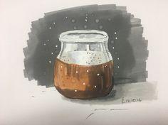 "My sketch :) ""Dessert in a jar"""