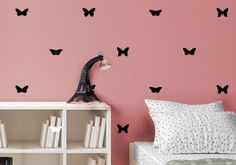 Butterfly Pattern Wall Decal