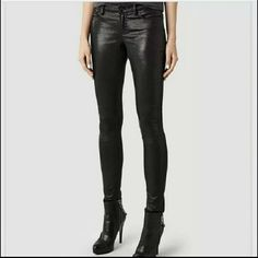 NWT Allsaints Petral Ashby Skinny Jeans Pant sz 26 Brand new! Metallic/faux leather style, pockets and belt loops! Trendy style! Less on eBay!on All Saints Jeans Skinny