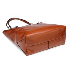 Women vintage brown oil waxing cowhide leather shoulder bag handbag