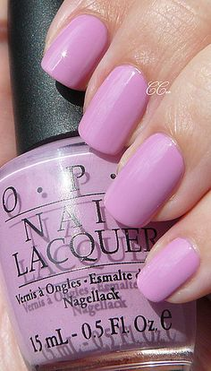 OPI Lucky Lucky Lavender- Just got a manicure with this color.  Searched it just to repin so I will remember to buy it!