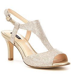From Alex Marie, the Giaddah dress sandals feature:Fabric upperBuckle closureSynthetic liningCushion windowSynthetic covered stiletto heelImported. Disney Wedding Shoes, Red Wedding Shoes, Wedding Dresses, Gold Prom Shoes, Bride Shoes, Sparkly Shoes, Best Bridal Shoes, Bridal Sandals, Satin Shoes