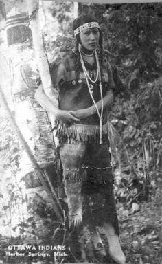 Ottawa woman at Harbor Springs, Michigan - circa 1910 by saundra