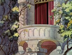 I digitally removed the door from its hinges so we can see the full interior and the doorway view of the dwarfs' cottage. Disney Magic, Disney Art, Disney Stuff, Walt Disney Pictures, Animation Background, Disney Films, Animation Film, Beautiful Images, Paper Dolls