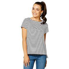 00c5a8e2b05 Dannii Minogue Petites Boatneck T-Shirt - Black   White. Target Australia