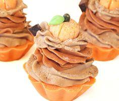 Pumpkin Spice Handmade Artisan Soap Cupcake by svsoaps on Etsy, $7.75