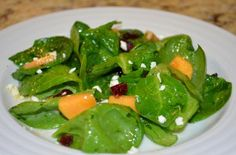 Persimmon and Spinach Salad   Flavor the Moments