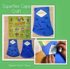 SuperFlex cape craft - described over at the blog, Speech Room News.