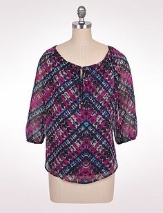Beautiful new top from dressbarn on misses and womens!!  so awesome with purples and blues!!!