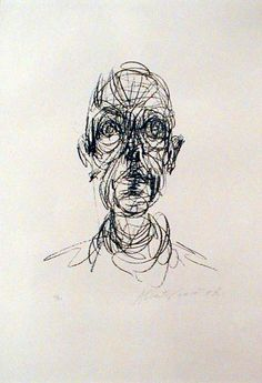 Giacometti drawing - We learned about him in my drawing class, like his approach…