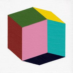Giclee print  Rhombic  13 x 13 modern geometric by magnapaint