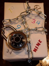 Very creative Gift wrap idea for a teen. With the combination on the gift plus they can use the lock for school locker.