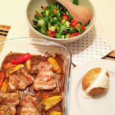 Christmas meal idea!!!: Piri-Piri Chicken with Baked Potato and a Simple Winter Salad