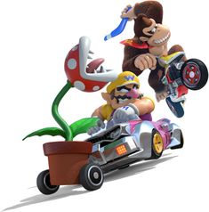 A large gallery of artwork from Mario Kart 8 on Wii U including characters in their anti gravity karts, power ups, the games logo and more. Mario Kart 8, Mario Bros., Super Mario Kunst, Super Mario Art, Video Game Art, Video Games, Super Mario Brothers, Wii U, Nintendo Wii