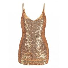 Choies Golden V-neck Strap Sequins Cami Top ($15) ❤ liked on Polyvore featuring tops, gold, white v neck tank top, white tank, sequin top, gold sequin top and white sequin top