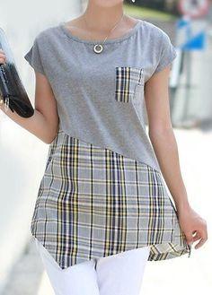 Fashion Sewing, Diy Fashion, Fashion Dresses, Womens Fashion, Fashion Tips, Blouse Patterns, Blouse Designs, Umgestaltete Shirts, Kleidung Design