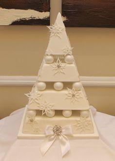 Christmas wedding cake by CAKECUCINA … http://cakesdecor.com/cakes/101206