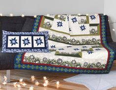 """Winter Memories"" by Cathy Anderson and Denise Gaidis (from Quilt Trends Magazine Winter 2014 issue)"