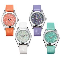 Stand out from the crowd 24/7! The Watch Me Shine watches features a glittering face and a leatherlike strap for comfort, style and shine. GET IT TODAY https://mbertsch.avonrepresentative.com #watches