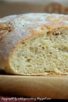 Ciabatta w 5 minut / whiteplate Bread Recipes, New Recipes, Vegan Recipes, Cooking Recipes, Favorite Recipes, Polish Recipes, Bread Rolls, Cookie Desserts, Bakery
