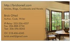 New Business Cards for the website/writing