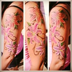 Stargazer lily tattoo... might be a nice addition to my back