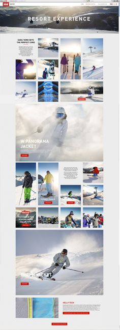 HELLY HANSEN - Ski & Sportswear Winter 13 Lookbook by Anneli Hole, via Behance
