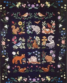 Woodland Creatures Block of the Month fabric color charts