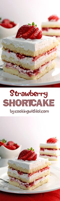 Easy Strawberry Shortcake recipe is perfect homemade dessert. This old fashioned Sweet Cake is fluffy, moist and very strawberry. C'mon can someone resist?