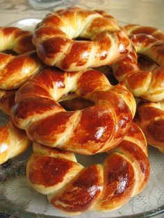 Acma - Turkish soft bagel, these are so beautiful. No boiling as done with American bagels.