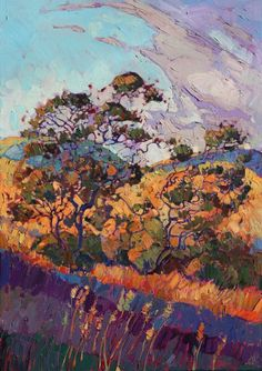 Silver Oaks, Paso Robles original oil painting, by Erin Hanson