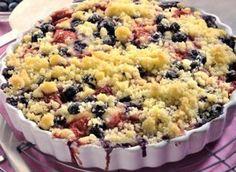 Takový koláč jako je tento se vám nikdy nepřejí. Jeho chuť můžete obměňovat použitím různého ovoce. Chutnat bude stejně dobře ... Desert Recipes, Doughnuts, Acai Bowl, Macaroni And Cheese, Oatmeal, Cooking, Breakfast, Ethnic Recipes, Sweet
