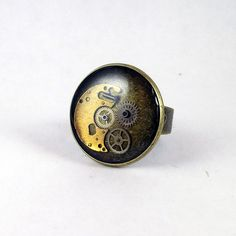 Steampunk Ring Watch Ring Watch Parts Ring by NestreCoUk on Etsy