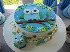 Great owl cake #cake #owl