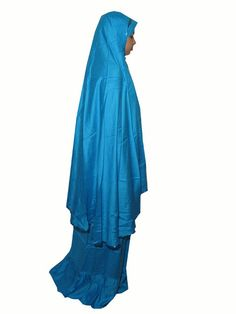 Turquoise Two Piece Prayer 562 | Muslim Prayer Clothes & Prayer Dress | Islamic Boutique