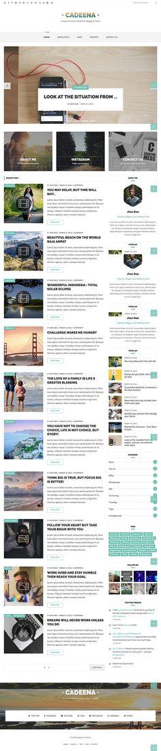 Cadeena - Simple and Clean WordPress Blogging Theme  #Wordpress #theme #Magazine #Blog