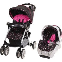 This is the travel system I want for a baby girl.