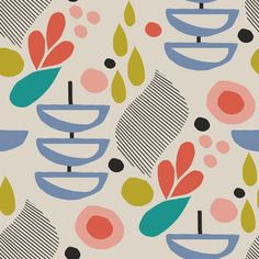 Shop Over 1 Million Fabric Designs | Spoonflower Retro Fabric, Surface Pattern, Designer Wallpaper, Beautiful Patterns, Vintage Floral, Fabric Patterns, Custom Fabric, Spoonflower, Fabric Design