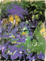 Joan Mitchell via Joan Mitchell Foundation Joan Mitchell studio, France 1983   Joan Mitchell, River, 1989 via Hauser and Wirt...