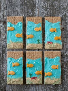 If you are planning a kid's party with an ocean, beach, or under the sea theme, you will want this cute project. You can create the graham crackers yourself or have it as a craft project at t…