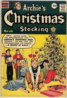 Vintage Christmas Book ~ Archie's Christmas Stocking Comic Book ©1957